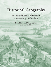"Historical Geography Volume 41 cover. Image is ""Westward the Course of Empire Takes its Way"" by Frances F. Palmer, 1868."