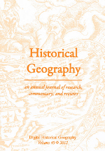 Historical Geography Volume 40 cover
