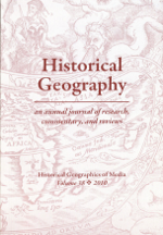 Historical Geography Volume 38 cover