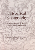 Historical Geography Volume 37 cover