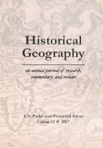Historical Geography Volume 35 cover